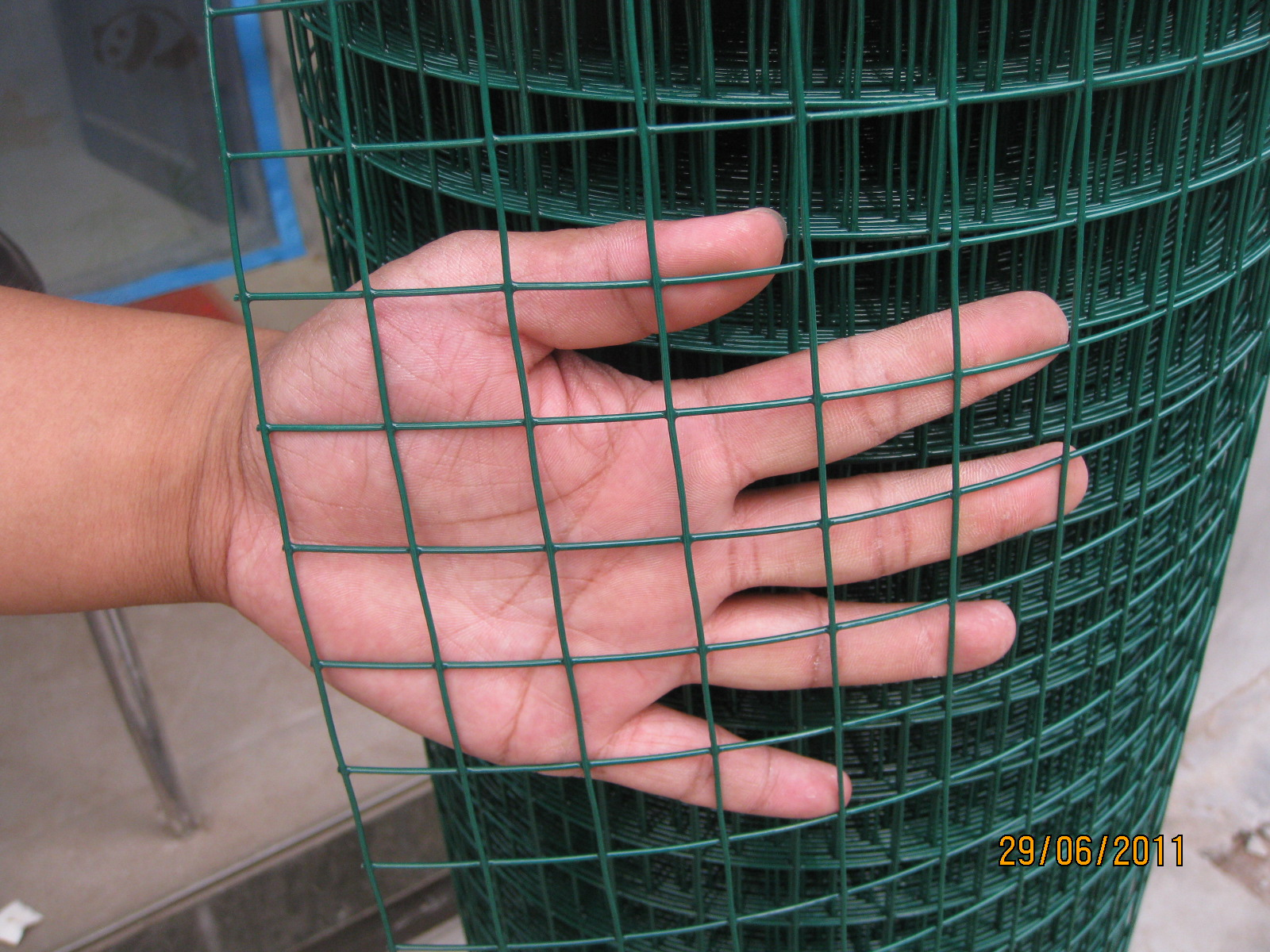 1/2x1/2  Green PVC Plastic coated Welded Wire Mesh