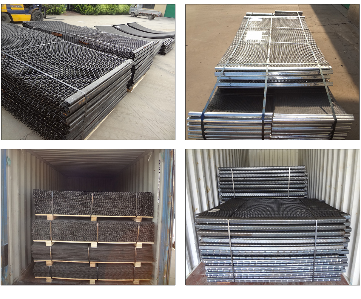 65 Mn Wear Resistance Stone Crusher Screen Mesh for Mining