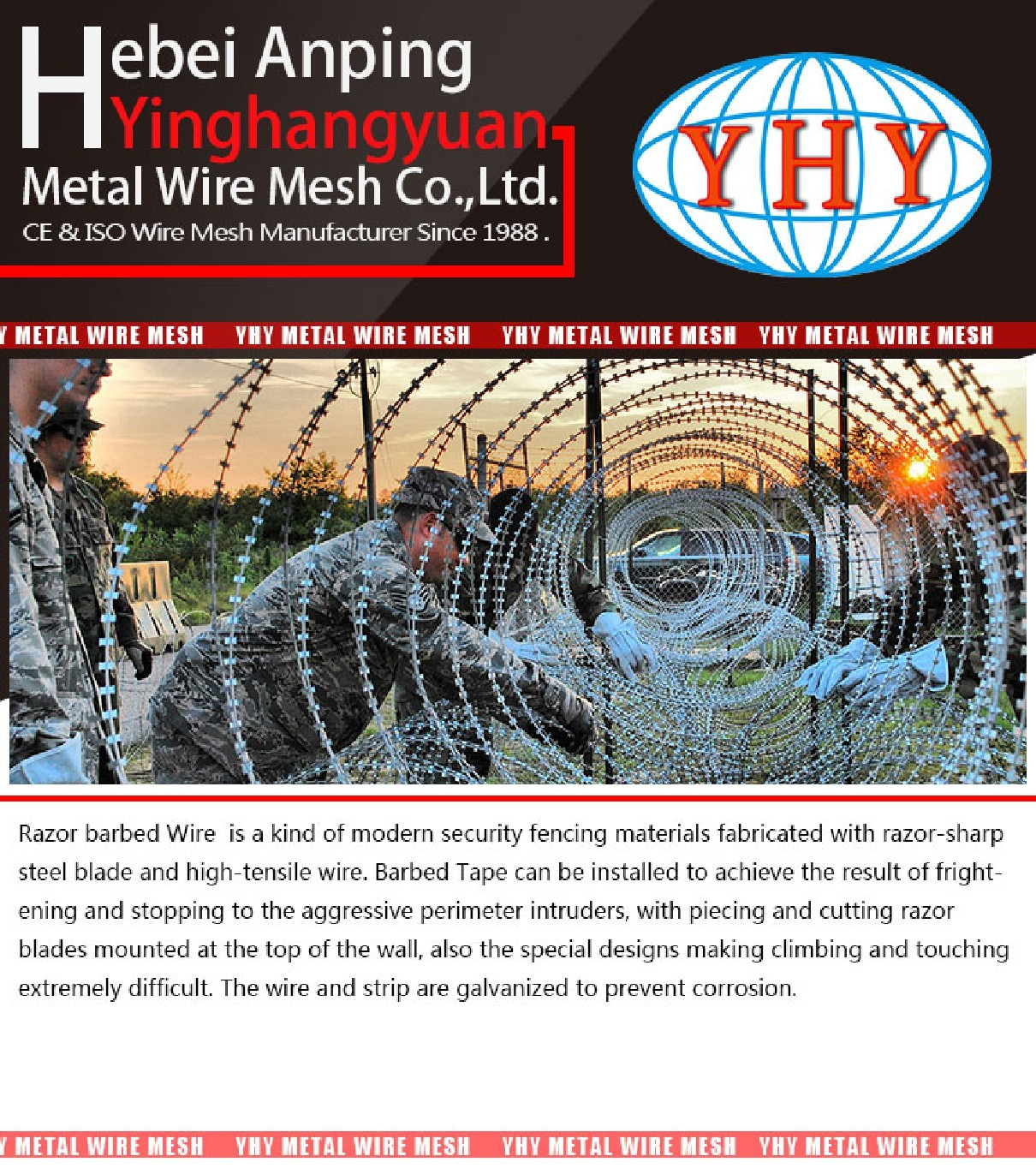high security protection razor wire barbed wire