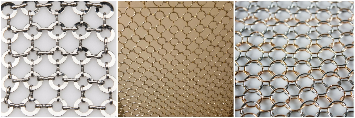 Light-Diffusing Architectural Stainless Steel Ring Mesh Curtain