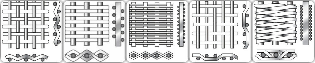 Smooth and bright surface Best Selling Square decorative Stainless Steel Woven crimped wire mesh