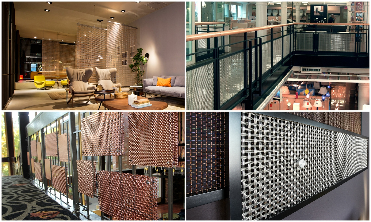 Gorgeous and chic elegant appearance Best price for square decorative Stainless Steel Woven crimped wire mesh