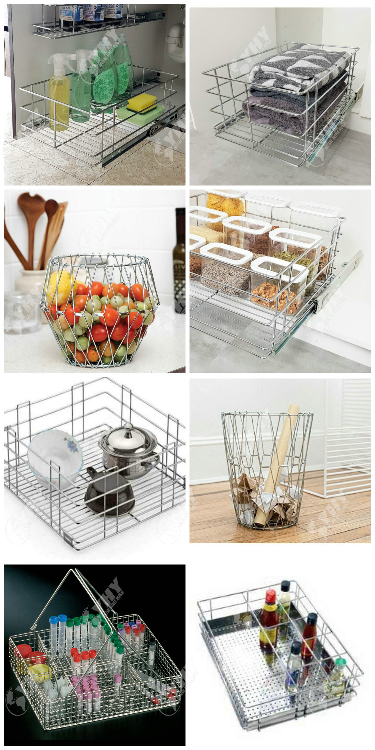 Factory direct sales of Stainless steel 304 metal mesh baskets for a wide range of uses