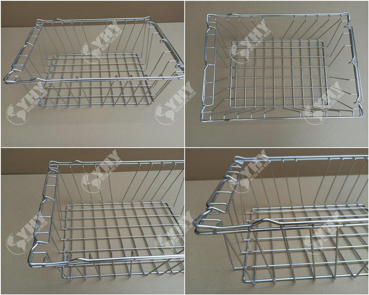 custmzied ss304 welded vintage wire basket