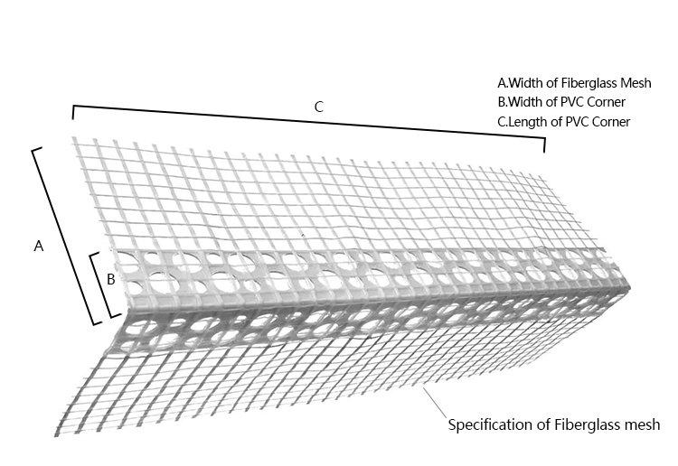 New material PVC Corner with fiberglass mesh