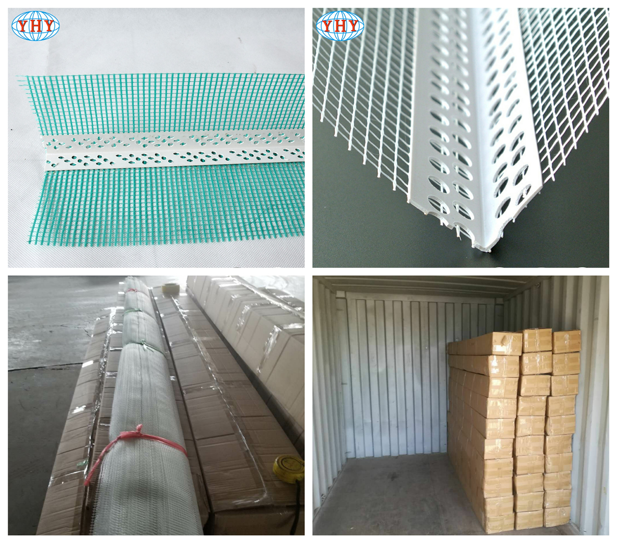 External wall insulation system PVC corner bead