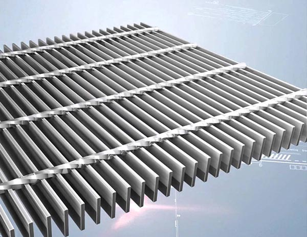 30-100mm1.8m 2m stair treads deck  Steel Grating