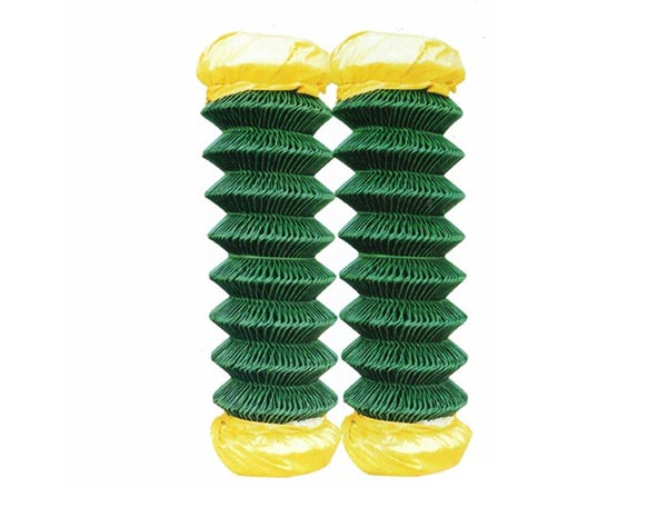 1.2mm 2'' 3'' Anti Climb Outdoor Security Gate Temporary Green PVC Coated Chain Link Fence