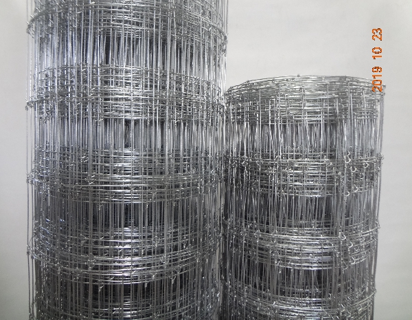1.9m Height Galvanized 15cm Vertical Wire Distance 100m long fixed knot fence mesh
