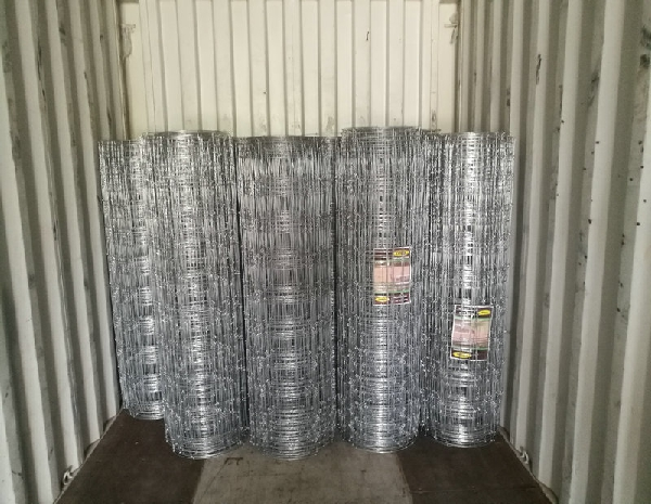 1.8m Height Galvanized 15cm Vertical Wire Distance 100m long Fixed-knot field deer fence