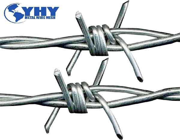 BWG12 wire diameter 400 meter per roll High Security Twisted hot dipped galvanized Barbed Wire