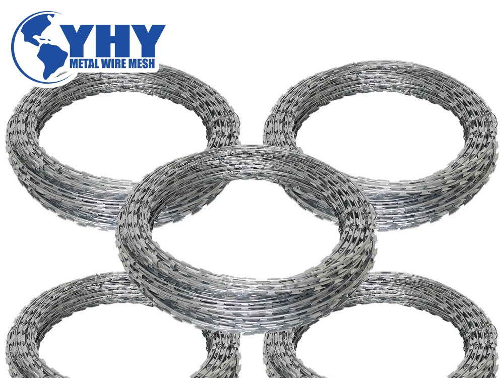 Strong defensive razor barbed wire high security protection concertina razor wire