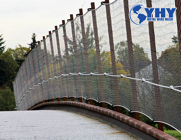 SS304 Architectural Diamond Rope Wire Mesh