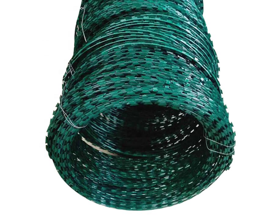 Color Powder Painted BTO-22 Concertina Razor Wire