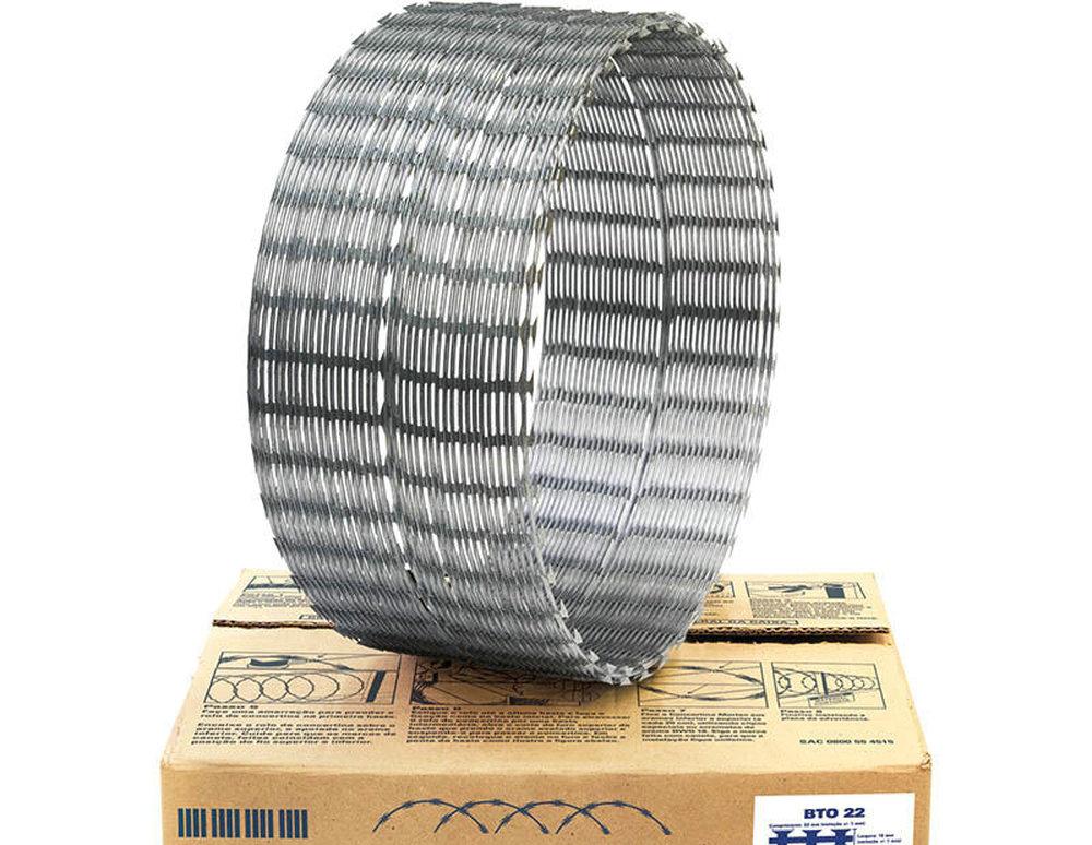 CBT-65 Galvanized Hexagonal Concertina Razor Wire