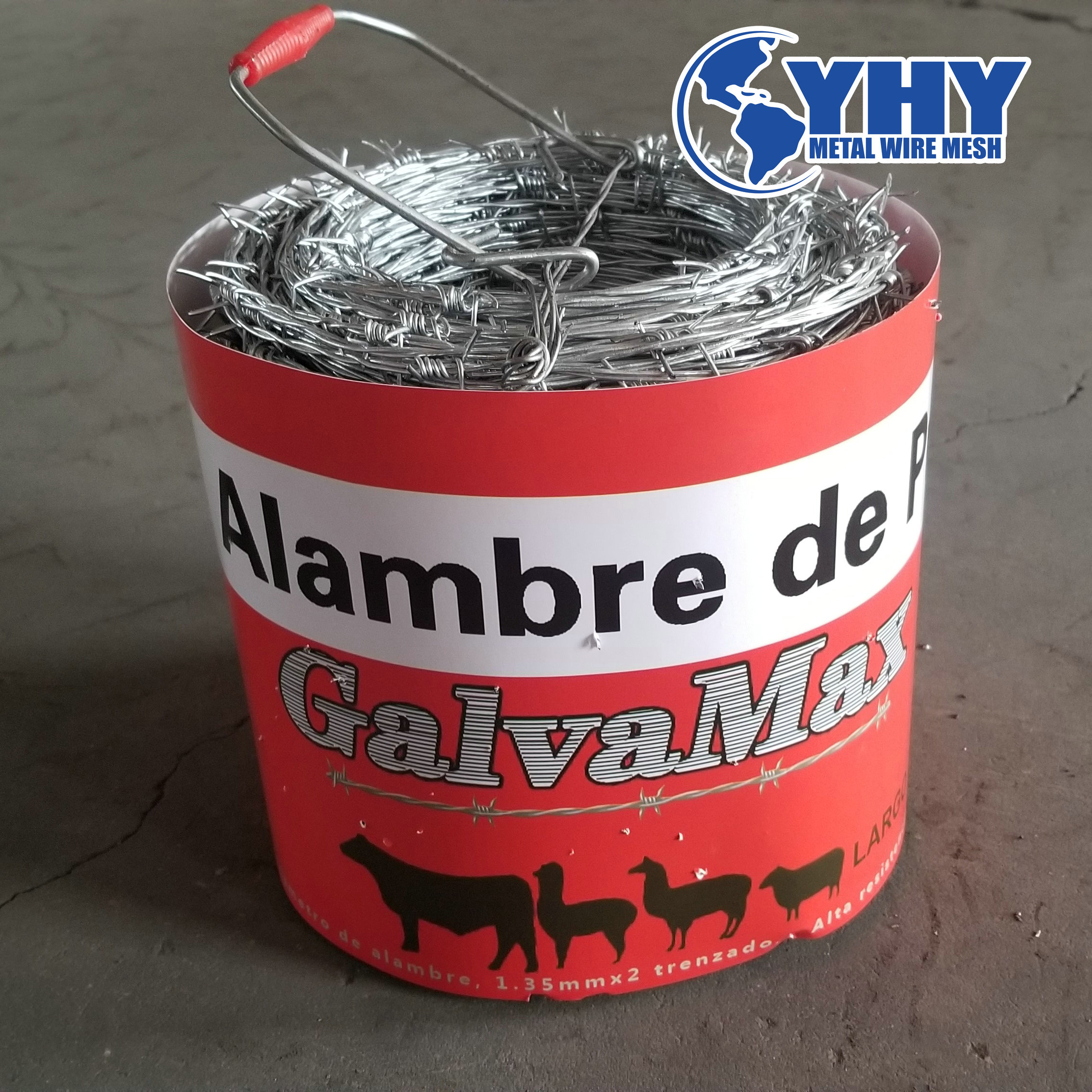 Barbed Wire Entanglement Wire hot-dipped galvanized Wire Roll 328 ft