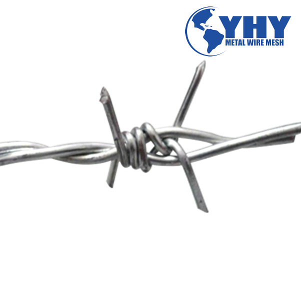YHY barbed wire 1320 ft. 12-1/2gauge,4 barbs