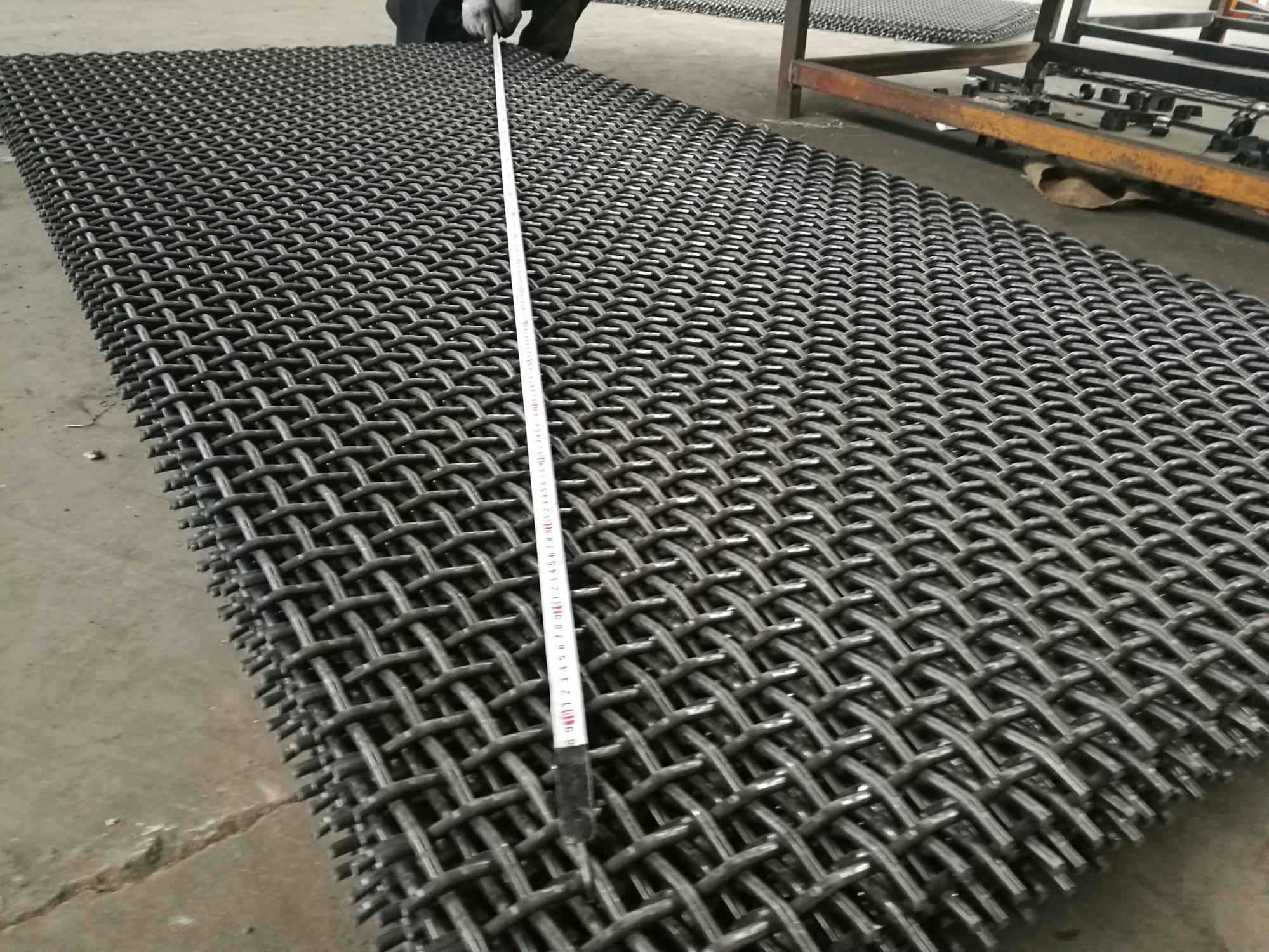 45# high carbon steel woven screen vibration screen mesh stone crusher screen