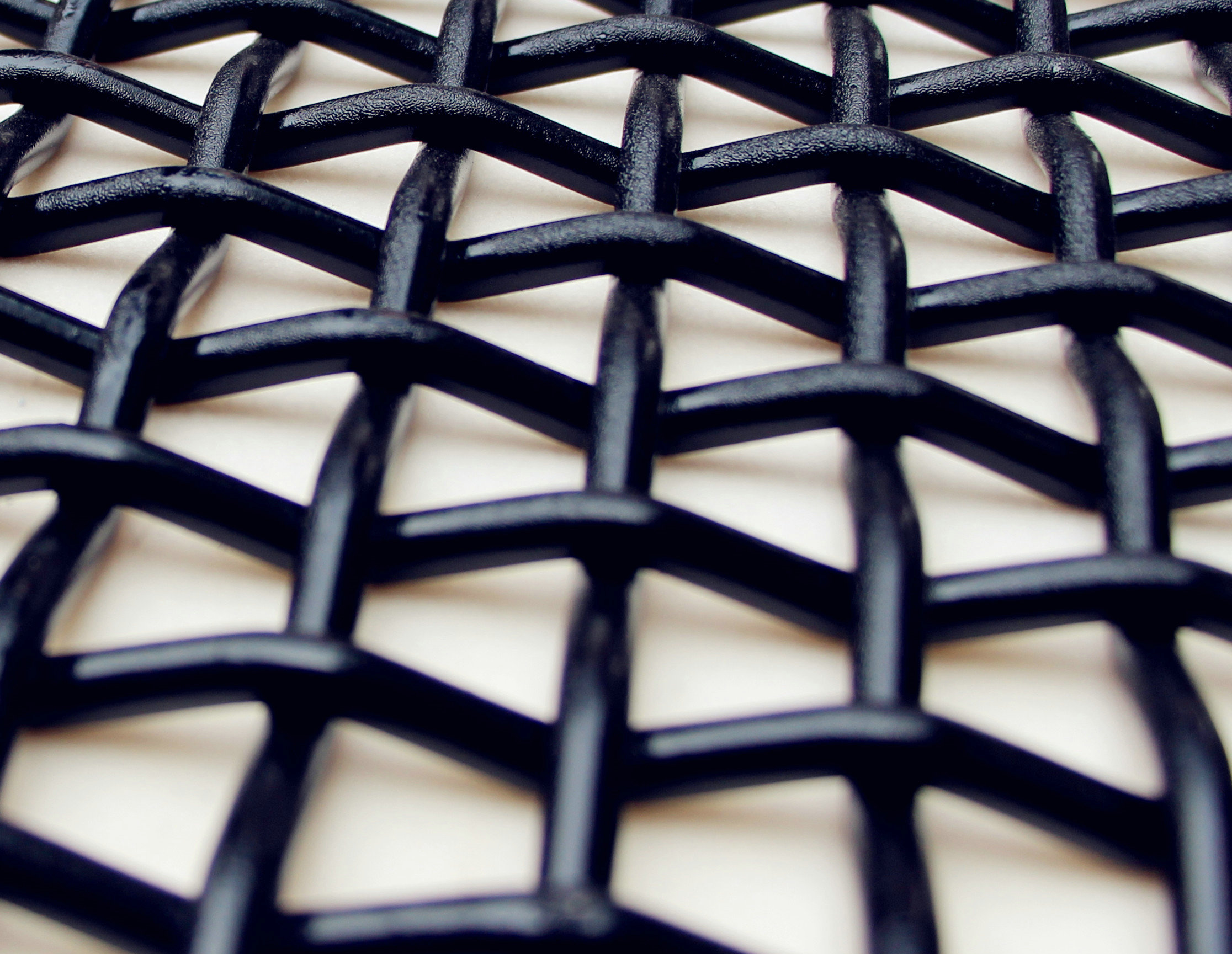 Painted woven wire mesh