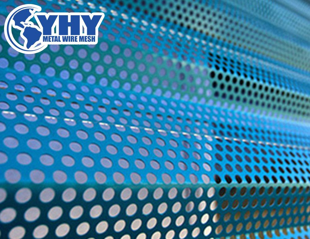 colors powder coated perforated metal sheet