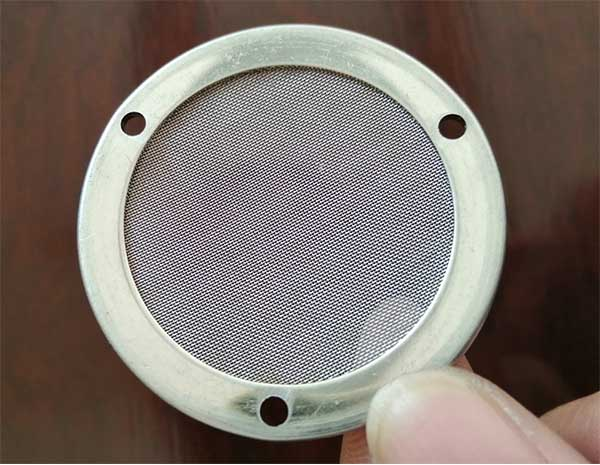 ss304 filter mesh disc with 3 small holes in the edge