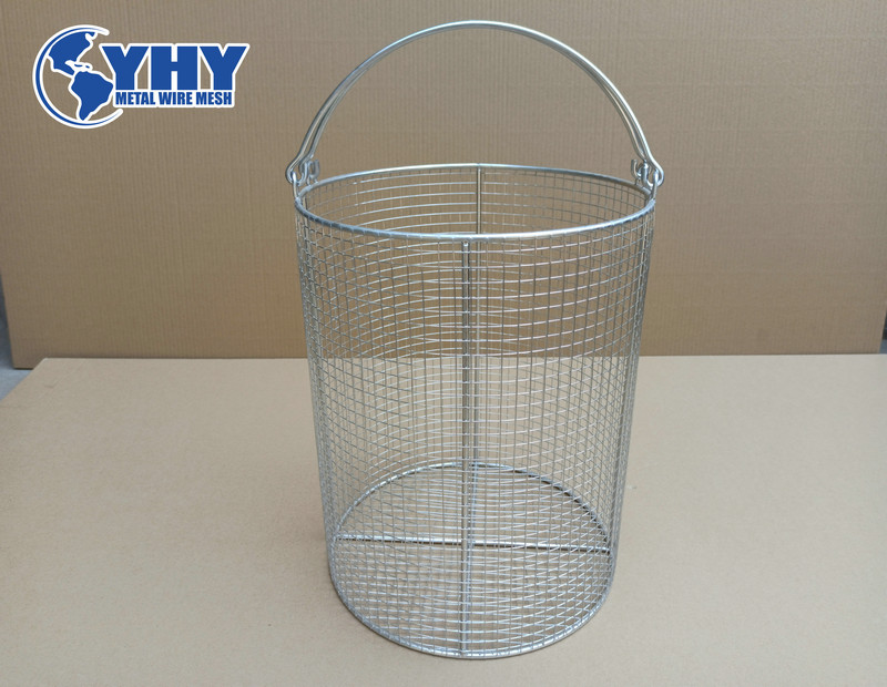 ss 304 steel mesh tote baskets