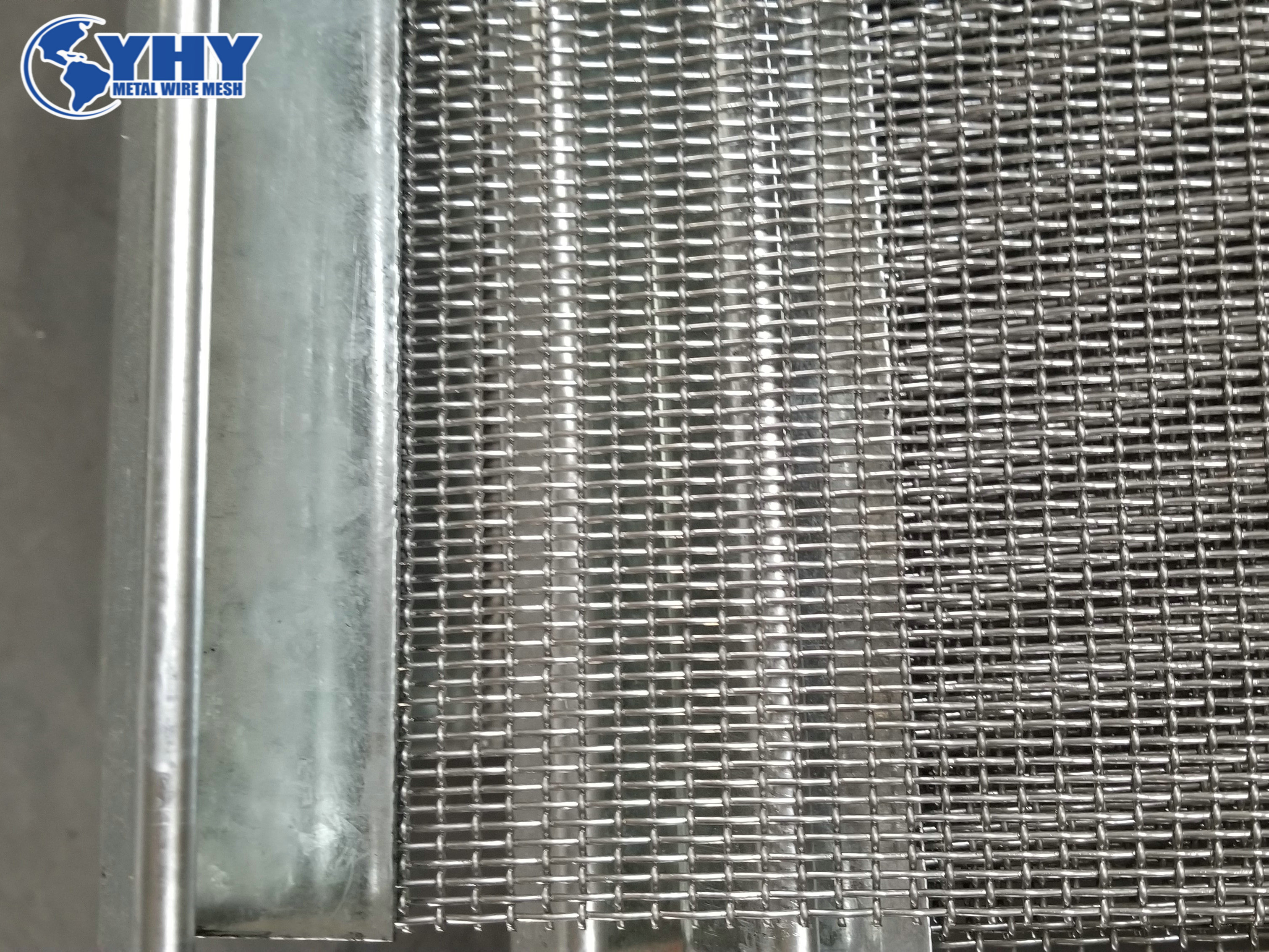 Crimped Mining Screen Mesh Sheet For Vibrating Machine With Hook / Reinforcing Edges