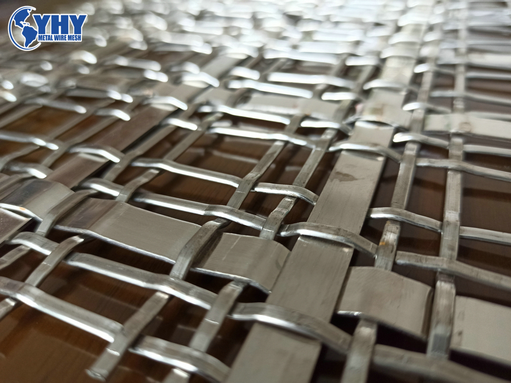 Stainless Steel Woven Metal Decorative Lock Crimped Wire Mesh on sale Chinese factory supply