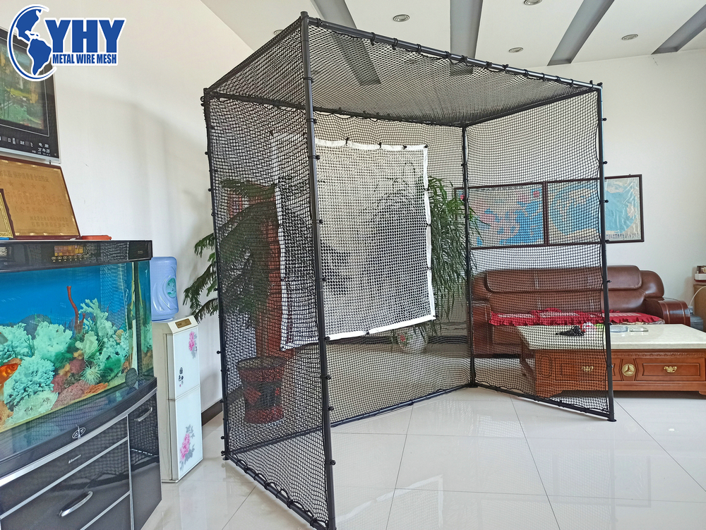 High-quality Golf Hitting Cage with Iron painted pipe frame for Golf Practice training Net