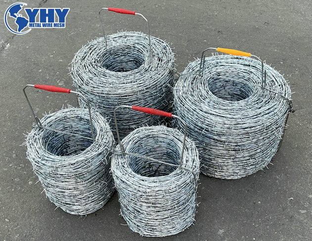 Factory direct sales of 200m long hot-dip galvanized barbed wire, suitable for the South American market