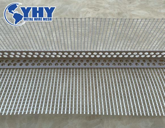 160g 4x4mm white High-Quality PVC Corner Bead with fiberglass mesh